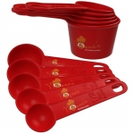 Measuring Cups and Spoons Set - American 10 Piece. Measures Odd Sizes. This Best Red Measuring Spoons and Cups Set is Perfect for All Your Cooking & Baking Measuring Cup Needs. This Nested Dry Measuring Cups Set is Decorative, Yet Stong, and with High End