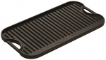 Lodge LPGI3 Cast-Iron Reversible Grill/Griddle, 20-inch x 10.44-inch