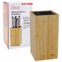 Universal Knife Block- Bamboo Knife Block with Easy Clean Bristles by Good Cooking