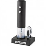 Wine Enthusiast Electric Push-Button Corkscrew -Black
