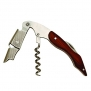 True Fabrications Double Hinged, Restaurant Waiter Quality, Professional Compact Corkscrew with Foil Cutter - Wood